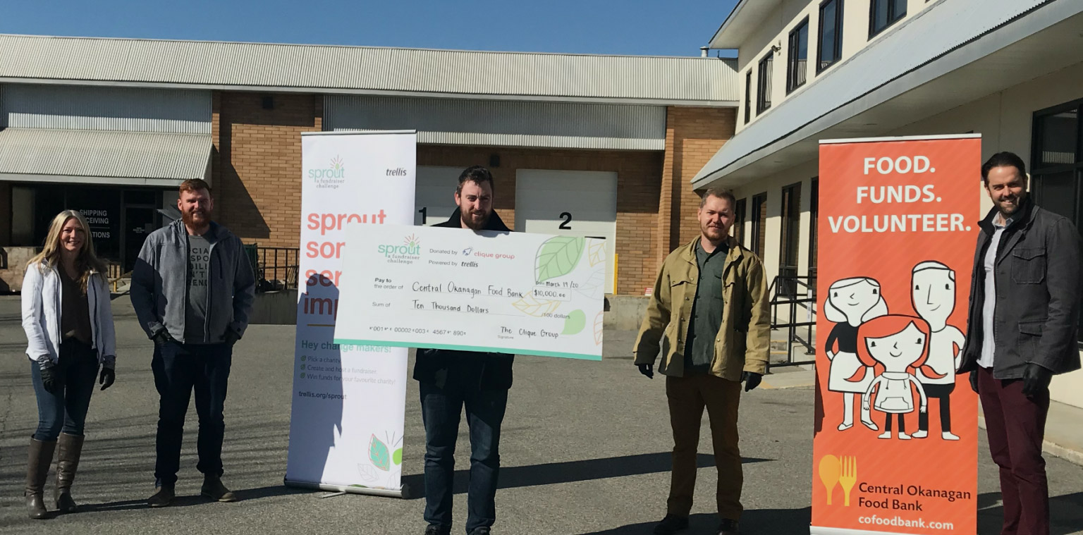 Food Bank receives $10,000 donation prize at just the right time.