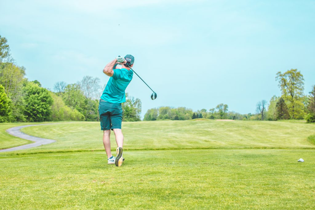 How Vernon Jubilee Hospital Foundation created historic results with a month long virtual campaign using Trellis, background photo of a golfer.
