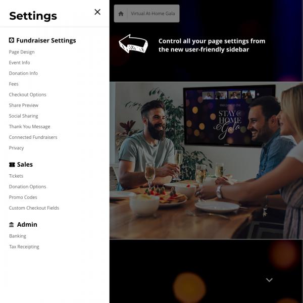 New trellis builder settings pop out menu
